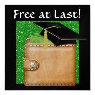 Graduation Humor - SRF 5.25x5.25 Square Paper Invitation Card