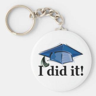 Graduation I Did It! Basic Round Button Keychain