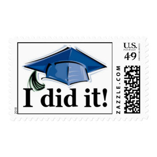 Graduation I did it! postage stamp