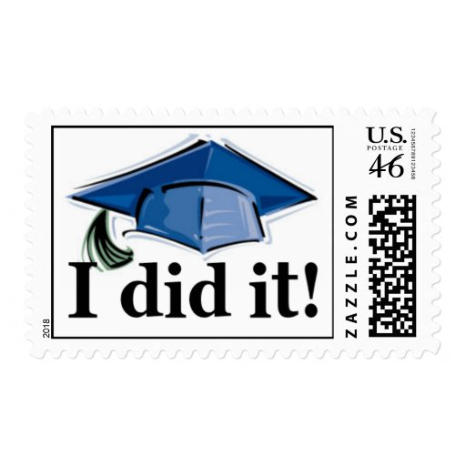 Graduation I did it! postage stamp