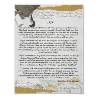 Graduation, IF Inspiring Poem by Rudyard Kipling Print