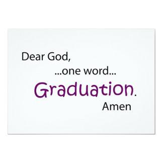 "Graduation 5"" X 7"" Invitation Card"