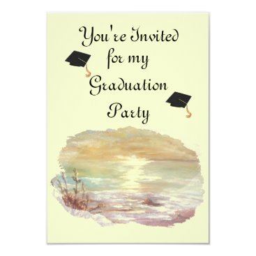 Beach Themed graduation invitation