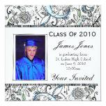 """Graduation invitation 5.25"""" square invitation card"""