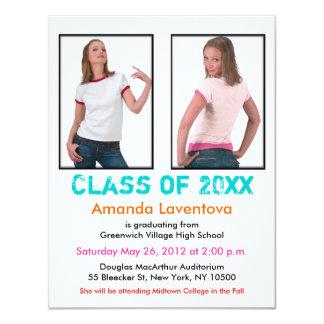Graduation Invitation Add 2 Image White Colors