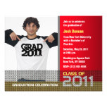 Graduation Invitation Add Photo Red B7