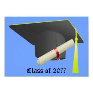 Graduation Invitation Black Cap