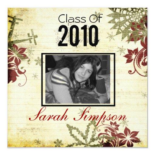 """Graduation Invitation Card 5.25"""" Square Invitation Card"""