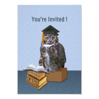 Graduation Invitation, Humorous Owl