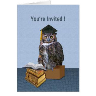 Graduation Invitation, Humorous Owl Greeting Card