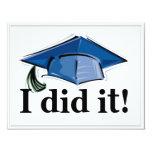 """Graduation Invitation I did it! 4.2x5.5 4.25"""" X 5.5"""" Invitation Card"""