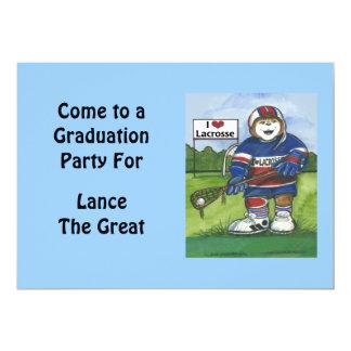 "Graduation Invitation - Lacrosse Theme 5"" X 7"" Invitation Card"
