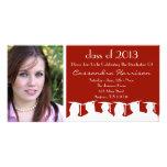 Graduation Invitation Photo Card Maroon Silhouette