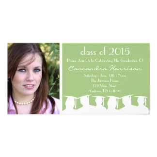 Graduation Invitation Photo Card Sage Silhouette