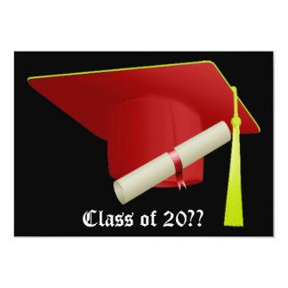 Graduation Invitation Red Cap