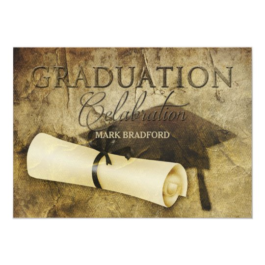 graduation invitation rustic antique photo back zazzle com