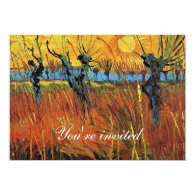 Graduation invitation Willows at Sunset Announcements