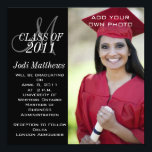 "Graduation Invitations Monogram Photo<br><div class=""desc"">Black and White Modern Graduation Invitations with Monogram. Customize with your graduating class year and grad information by selecting &quot;customize it&quot; and use Zazzle&#39;s easy to use menu prompts. Exchange the sample photo for your own. Flexible design to allow choice of many different card sizes depending on your photo of...</div>"