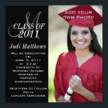 """Graduation Invitations Monogram Photo<br><div class=""""desc"""">Black and White Modern Graduation Invitations with Monogram. Customize with your graduating class year and grad information by selecting &quot;customize it&quot; and use Zazzle&#39;s easy to use menu prompts. Exchange the sample photo for your own. Flexible design to allow choice of many different card sizes depending on your photo of...</div>"""