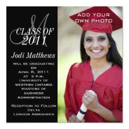 High school graduation invitations announcements zazzle graduation invitations monogram photo filmwisefo Gallery