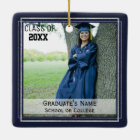 Graduation Keepsake (Changeable Background Color) Ceramic Ornament