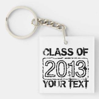 Graduation keychains with custom class year