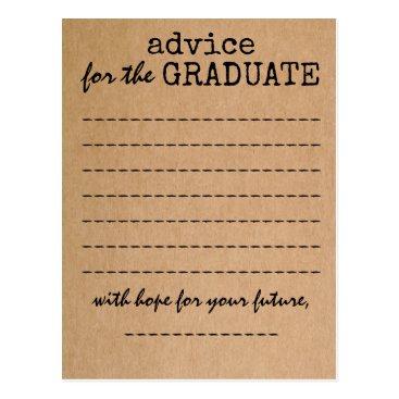 ericksondesigns Graduation Kraft Advice Card