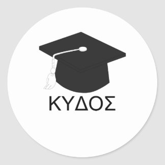 Graduation kudos-B.A. Classic Round Sticker