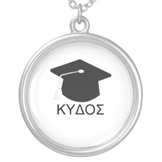 Graduation kudos-B.A. Silver Plated Necklace