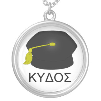 Graduation kudos-Ph.D. Silver Plated Necklace