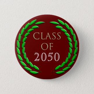 Graduation Laurel Wreath Button Template