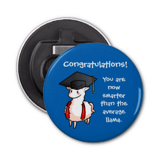 Graduation Llama Bottle Opener