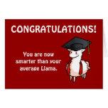 Graduation Llama Greeting Card