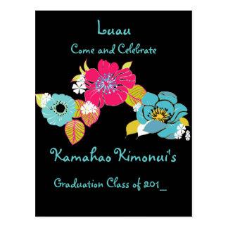 Graduation Luau Invitations postcard, class 2009 Postcard