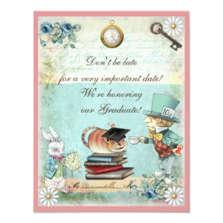 Graduation Mad Hatter Tea Party Card