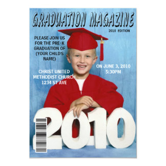 Graduation magazine card