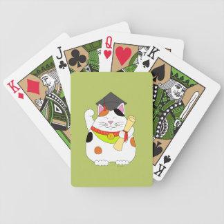 Graduation Maneki Neko Bicycle Playing Cards