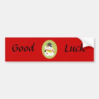 Graduation Maneki Neko Car Bumper Sticker