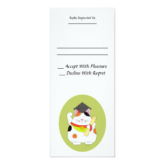 Graduation Maneki Neko Card