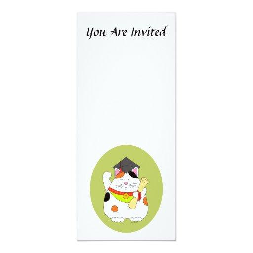 Graduation Maneki Neko Card