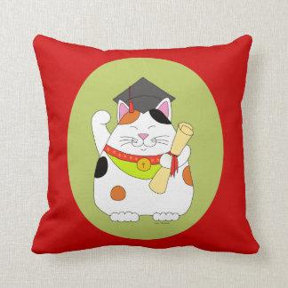 Graduation Maneki Neko Pillow