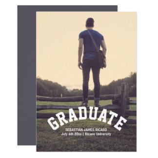 Graduation Masculine Modern Personalized Card