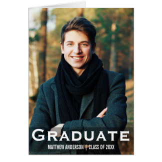 Graduation Modern Photo Fold Card L W