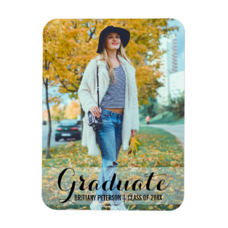 Graduation Modern Photo Magnet L Sc B