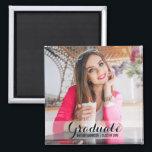 "Graduation Modern Photo Magnet S B Sq<br><div class=""desc"">Graduation Modern Photo Magnet Square</div>"