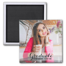 Graduation Modern Photo Magnet S B Sq