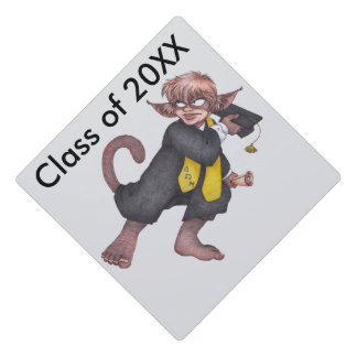Graduation Monkey Gnome Tassel Topper