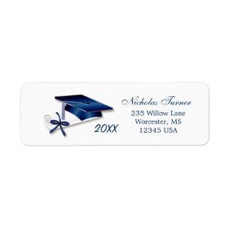 Graduation Mortar cap & diploma Avery Label