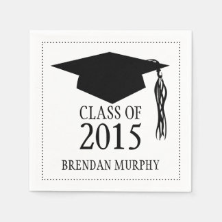 Graduation Mortarboard Class of 2015 Standard Cocktail Napkin