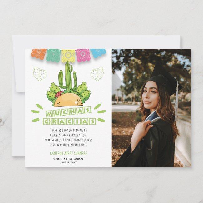 Graduation Muchas Gracias Fiesta Thank You Card